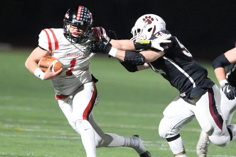 Quarterback Ricky Ortega (1) and Coatesville will be tested by St. Joseph's Prep's stifling defense in Friday's Class 6A semifinal.