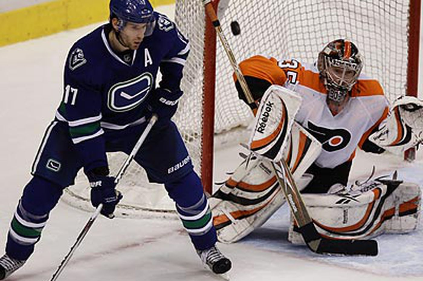 Flyers get flattened in Vancouver