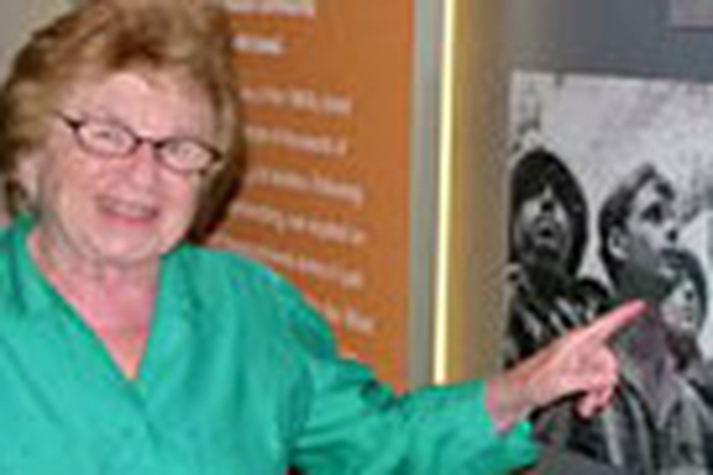 Dan Gross: Dr. Ruth gets some - recognition, that is