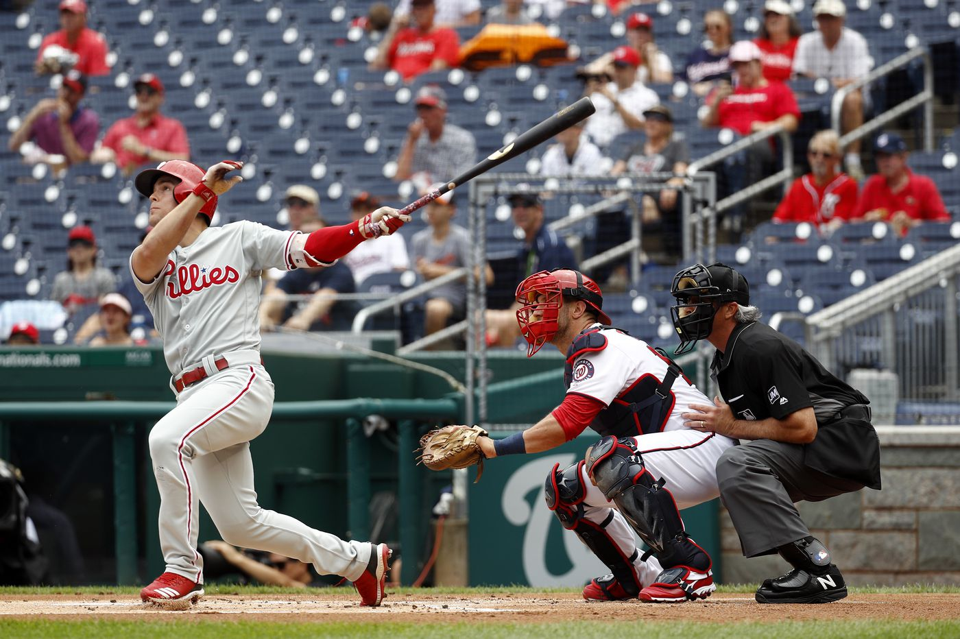 Bryce Harper's baserunning indecision, two late homers against Cole Irvin doom Phillies in loss to Nationals
