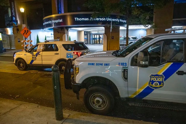 Philadelphia police said a 55-year-old man killed a 43-year-old coworker at Jefferson Hospital on Monday, Oct. 4, 2021. (Alejandro A. Alvarez/The Philadelphia Inquirer/TNS)