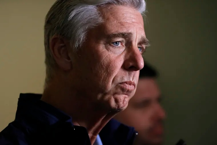 Dave Dombrowski, shown in November 2018 when he was president of baseball operations for the Boston Red Sox.