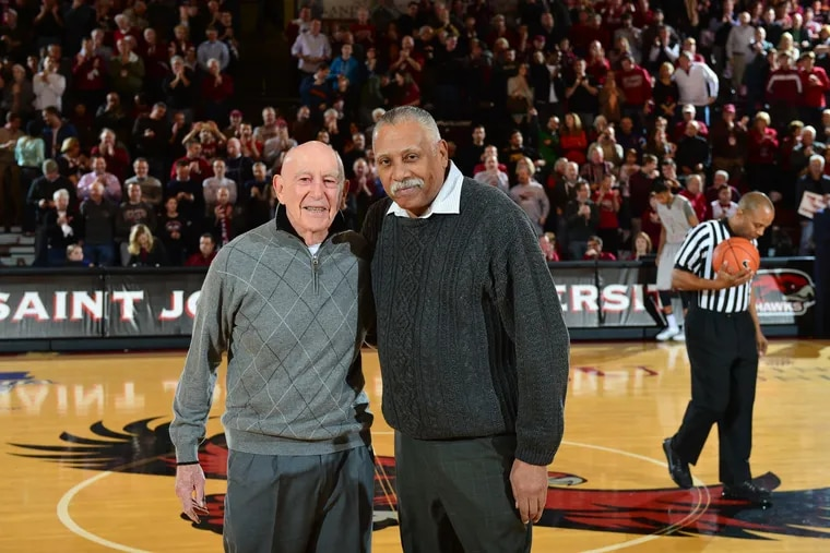 Mr. Anderson (right) with the late former Hawks coach Jack Ramsay.