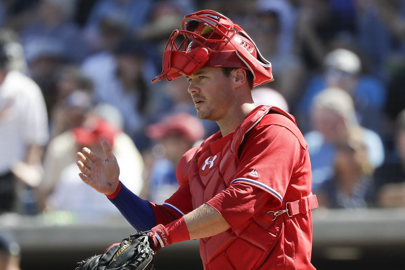 Andrew Knapp shows improvement behind the plate