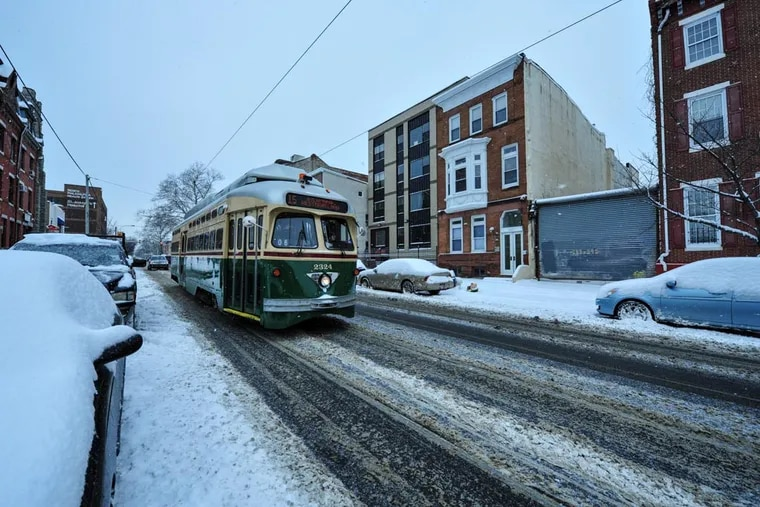 Trolleys have been running on Girard Avenue for years in all kinds of weather. The cars themselves were built in the late 1940s and saw an overhaul in 2002.