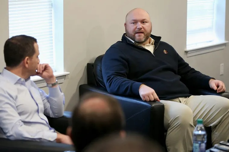 Joe Douglas (right) will likely be on the list of potential general manager candidates if a job opens within the league next year.