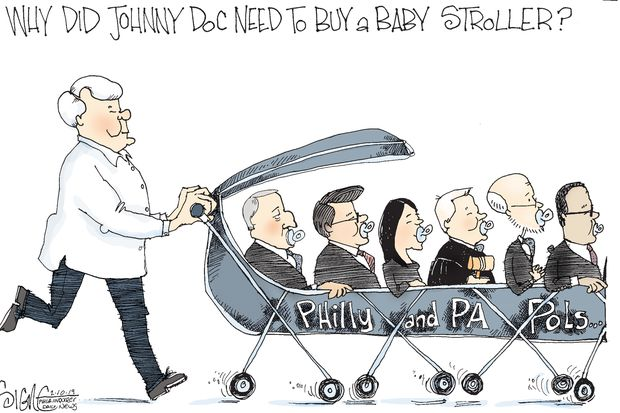 Political Cartoon: Johnny Doc's Political Stroller