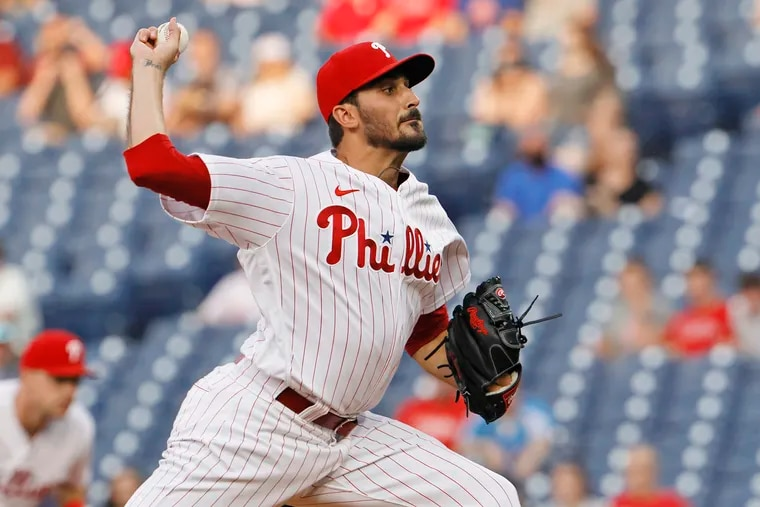 Phillies pitcher Zach Eflin will come off the injured list to start on Thursday night against the Diamondbacks.