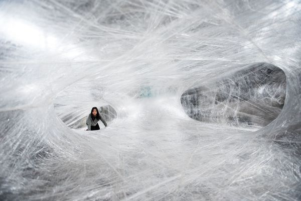 This giant, crawl-through 'Cocoon' made of tape is coming to the Navy Yard on Saturday