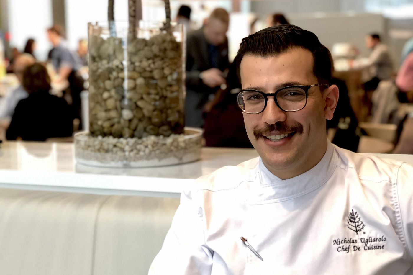 The chef at Jean-Georges' new Comcast tower restaurant in Philly has his head in the clouds