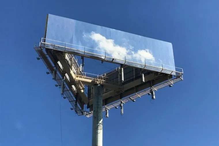 The sky billboard near 2nd and Race streets in Old City.