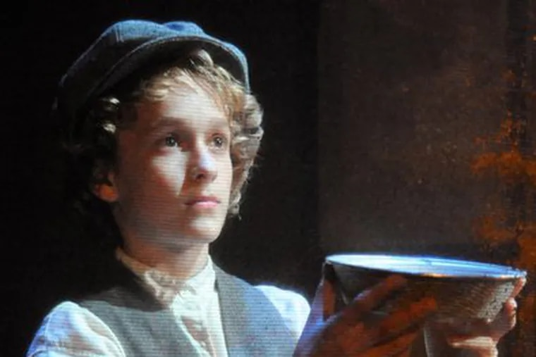 """""""Please sir, may I have some more?"""" Tovi Wayne plays Oliver in the musical adapted from Dickens."""