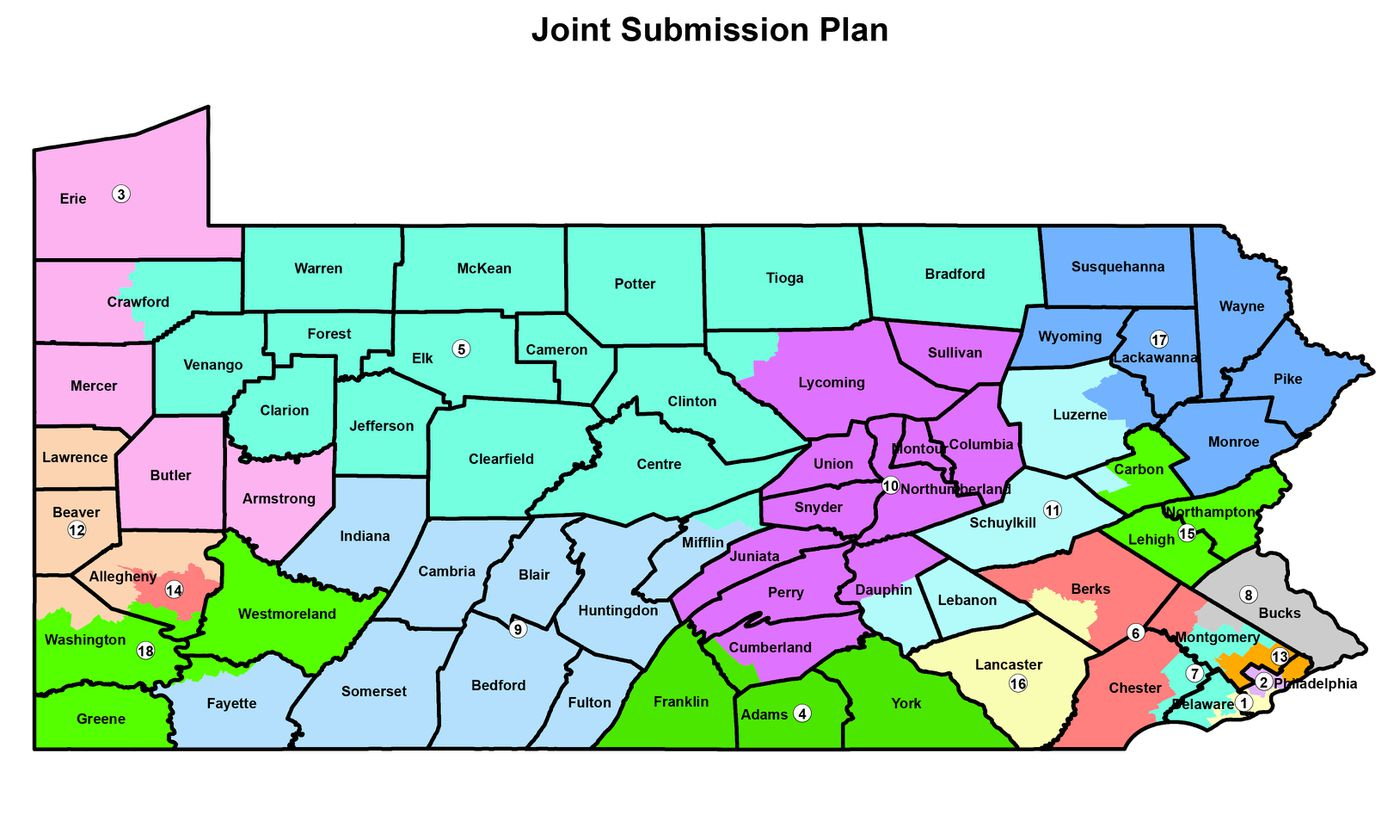 Top Republicans in Pa. House, Senate submit congressional ... on map of new york, map of colonial pennsylvania, map of pennsylvania with cities, map of tn, map of az, county map pa, map of il, map of western pennsylvania, map of oh, map of philadelphia, map of ohio, map of wv, map of ms, map of harrisburg pennsylvania, map of mn, map of panama, google maps pa, map of ia, map of wi, map usa,