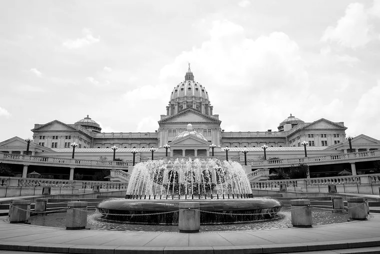 Shown is the Pennsylvania Capitol building in Harrisburg, Pa.