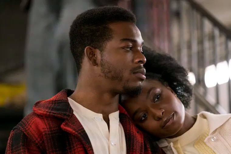 """Stephan James, left, and KiKi Layne in a scene from """"If Beale Street Could Talk."""" (Tatum Mangus/Annapurna Pictures via AP)"""