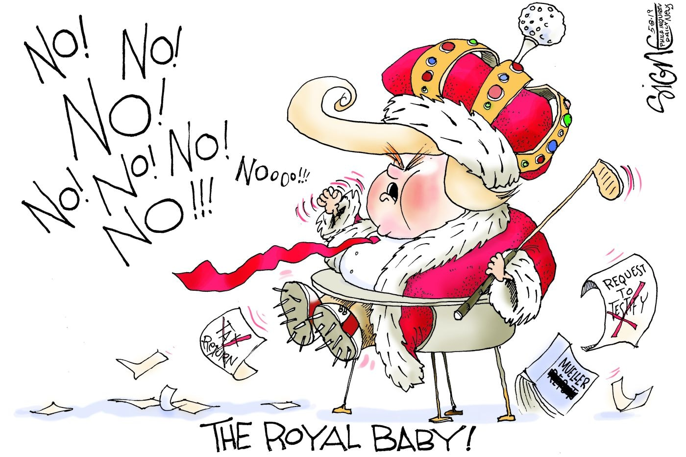 Political Cartoon: America's Royal baby