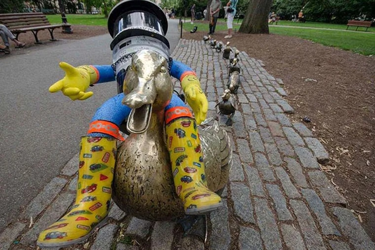 HitchBOT in Boston during happier traveling days. COURTESY OF MEAGHAN CARROCCI