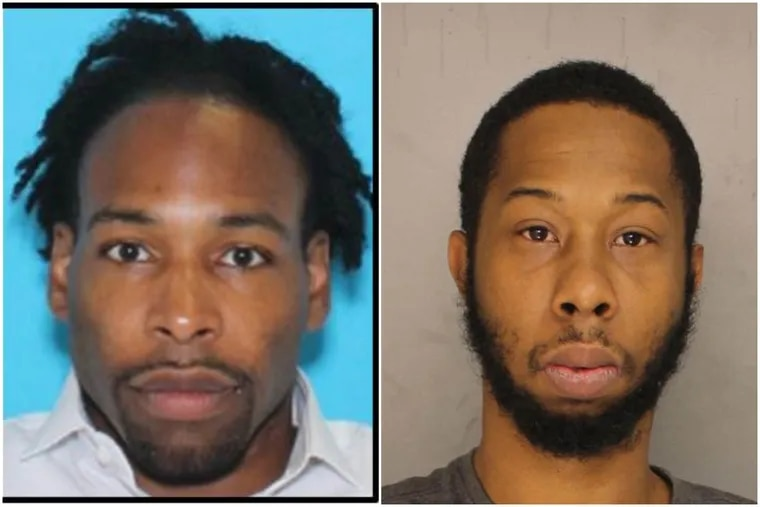 Jonathan Harris (left) and Andre Melton both face criminal charges relating to Christina Carlin-Kraft. Harris is accused of strangling the model during an argument in her Ardmore apartment, and Melton, police say, robbed her just days earlier in an unrelated incident.