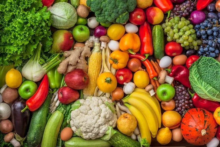 Veggies, fruit and eggs make for a healthy start to the new year.