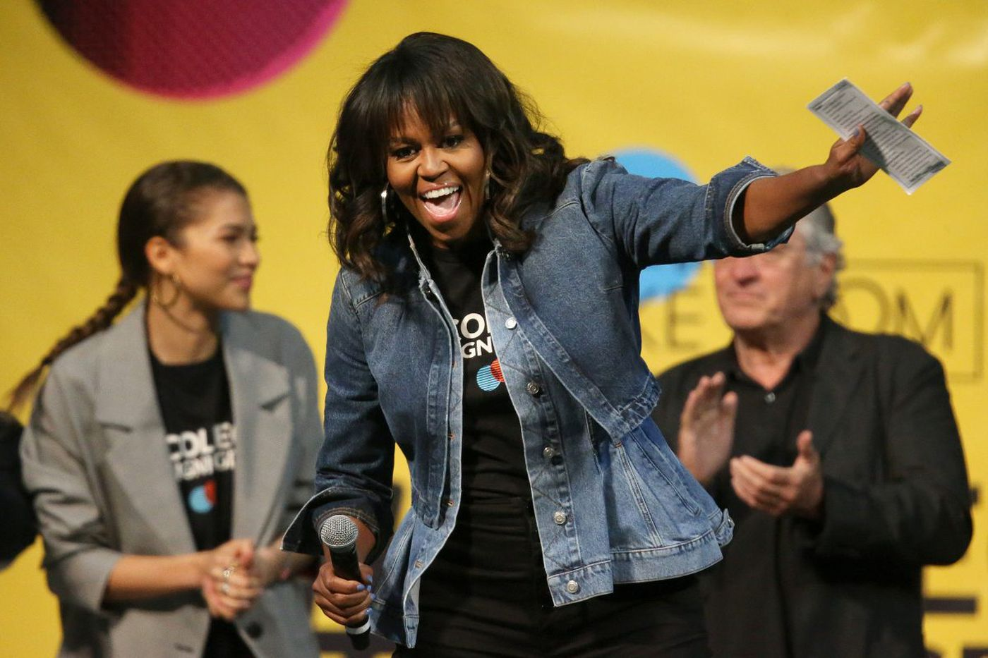 'Ignore the haters,' Michelle Obama tells 8,000 Philly students