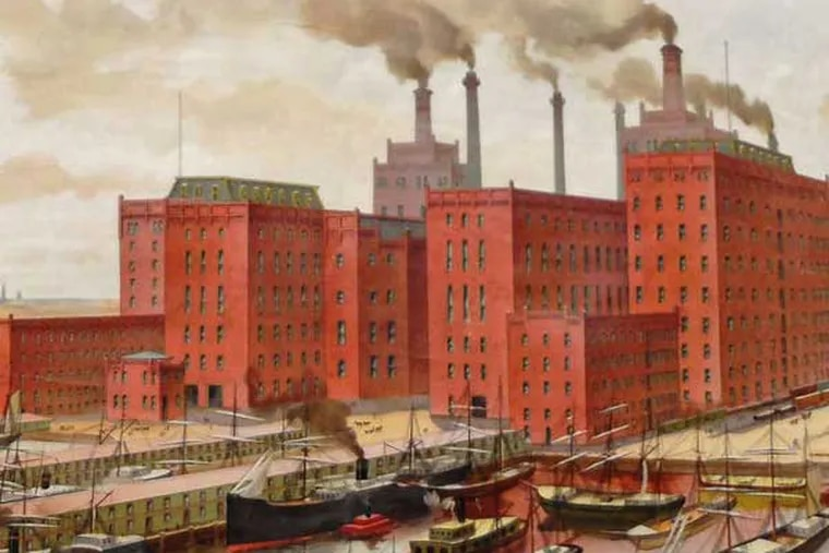 """Spreckels Sugar Refinery in late-19th-century Philadelphia, part of the Berley Brothers' collection in """"Oh, Sugar"""" at the Seaport Museum."""