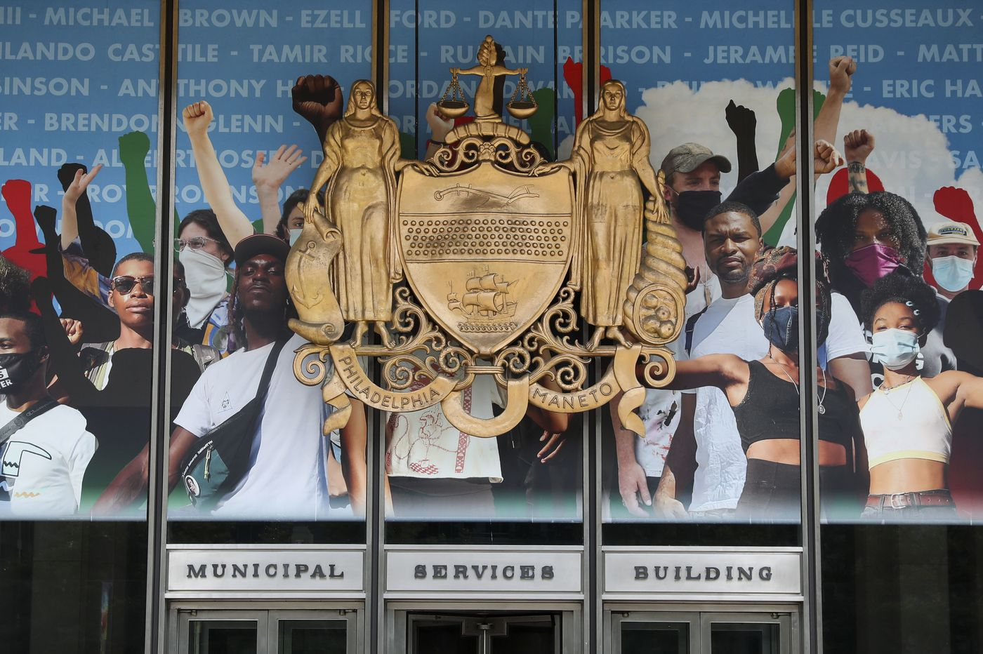 'Crown' is the new mural on the Municipal Services Building that highlights Black Lives Matter protesters