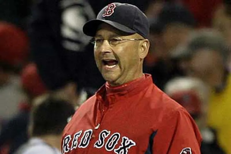 Red Sox manager Terry Francona returns to Philadelphia tonight, where he managed the Phils from 1997 to 2000. (AP / File photo)