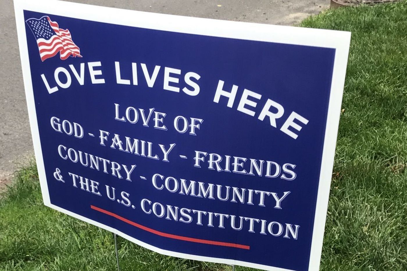 'Love Lives Here' signs spread positive message for Republicans