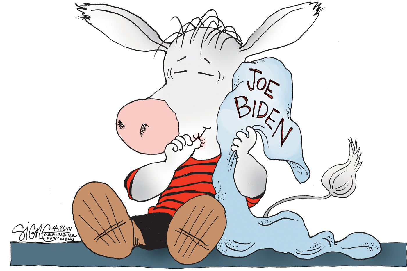 Political Cartoon: The Joe Biden security blanket