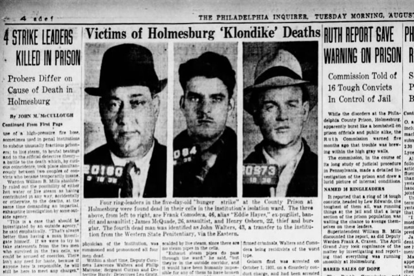 81 years ago, 4 inmates were 'baked' to death in a Philly jail. This summer, 1,000 are still locked up without AC.