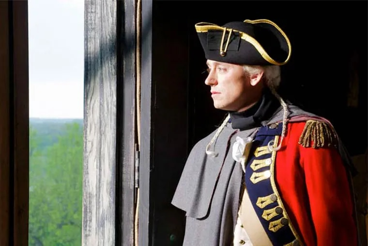 """JJ Feild as British officer John André in """"Turn,"""" AMC's new series about spies in the Revolution."""