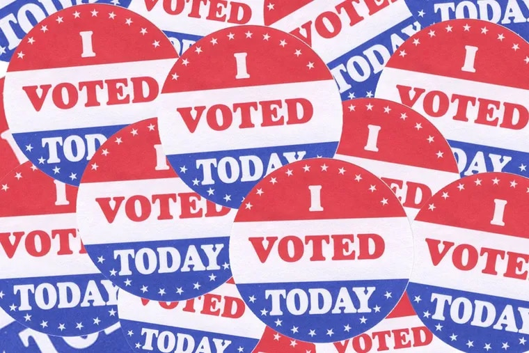Get your sticker when you vote in Philadelphia primary on Tuesday, May 21, 2019.