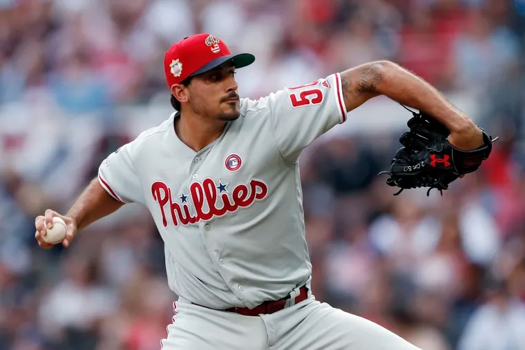 Not long ago, Phillies pitcher Zach Eflin was an All-Star candidate, but he gave up seven runs on seven hits against the Braves Thursday.