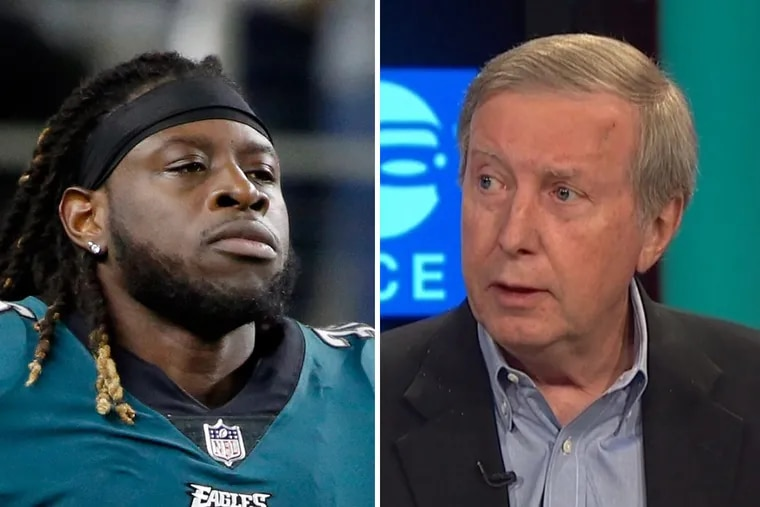 NBC Sports Philadelphia's Ray Didinger (right) really didn't appreciate the post-game comments made by Eagles running back Jay Ajayi.