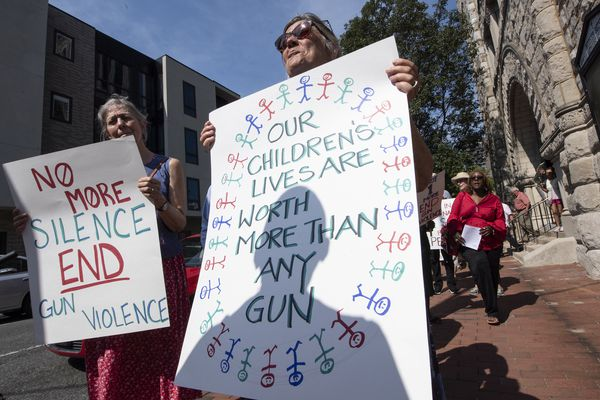 Faith community members protest gun violence, urge for assault weapons ban