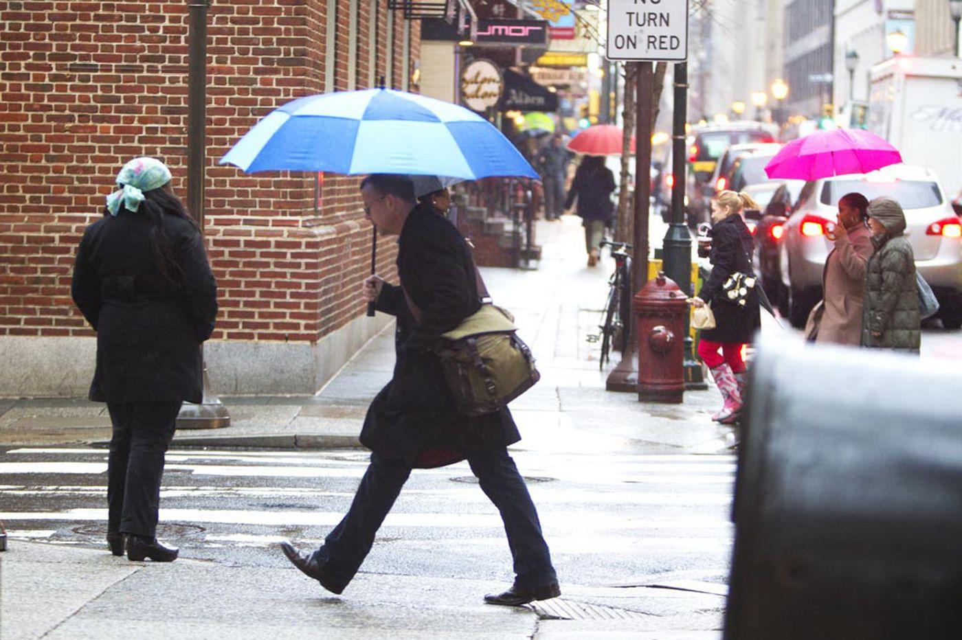Philadelphia area braces for heavy rain, possible flooding as winter is set to debut