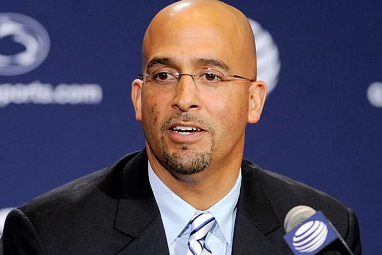 Penn State head coach James Franklin. (Abby Drey/Centre Daily Times/AP)