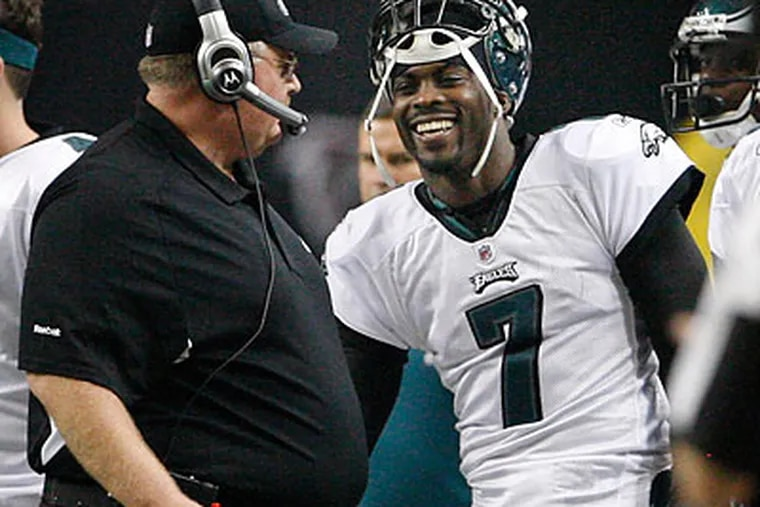 The Eagles' 34-7 win over Atlanta was Andy Reid's 100th victory in this decade. (Ron Cortes/Staff Photographer)
