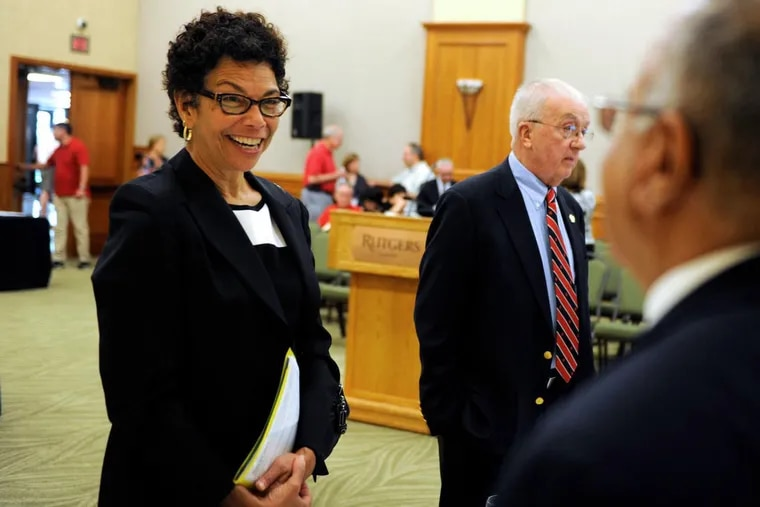 Rutgers-Camden chancellor Phoebe A. Haddon, pictured here in 2014, will leave the leadership post in July.