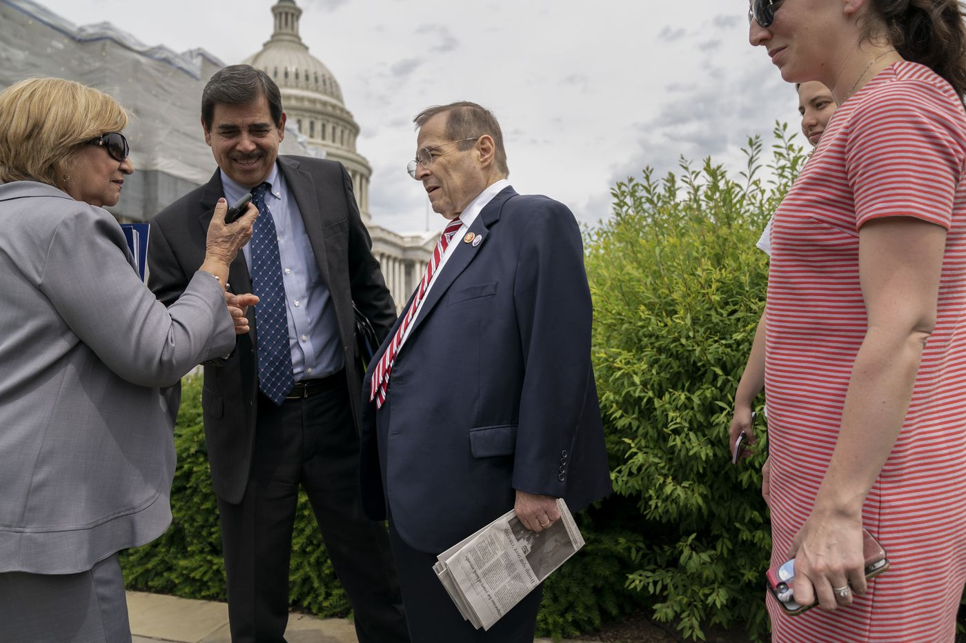 Jerry Nadler Appears to Nearly Pass out at Press Conference
