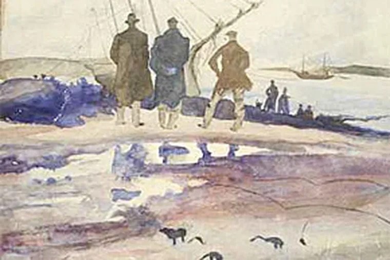 """The forgery of Andrew Wyeth's 1939 watercolor, """"Wreck on Doughnut Point,"""" was once called out by the artist himself. It is the fourth counterfeit to surface since his death in January of this year."""