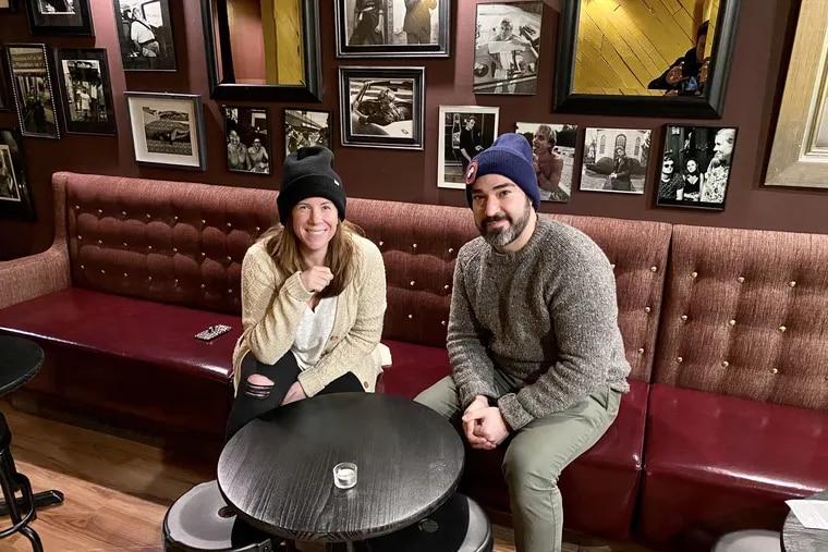 Heather Annechiarico and Chris Fetfatzes at Wine Dive, next door to The Cambridge.