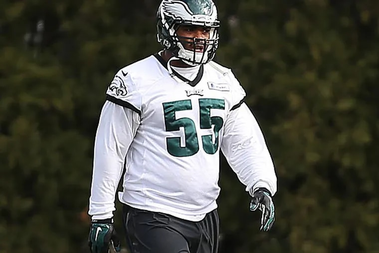 Eagles linebacker Brandon Graham. (David Maialetti/Staff Photographer)