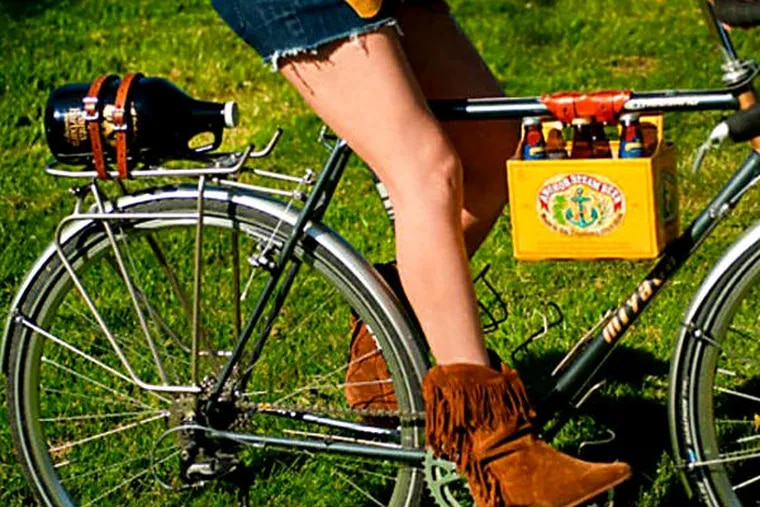 A 6 Pack Frame Cinch ($24, etsy.com) is an easy way to carry pints back home on the bicycle's crossbar.