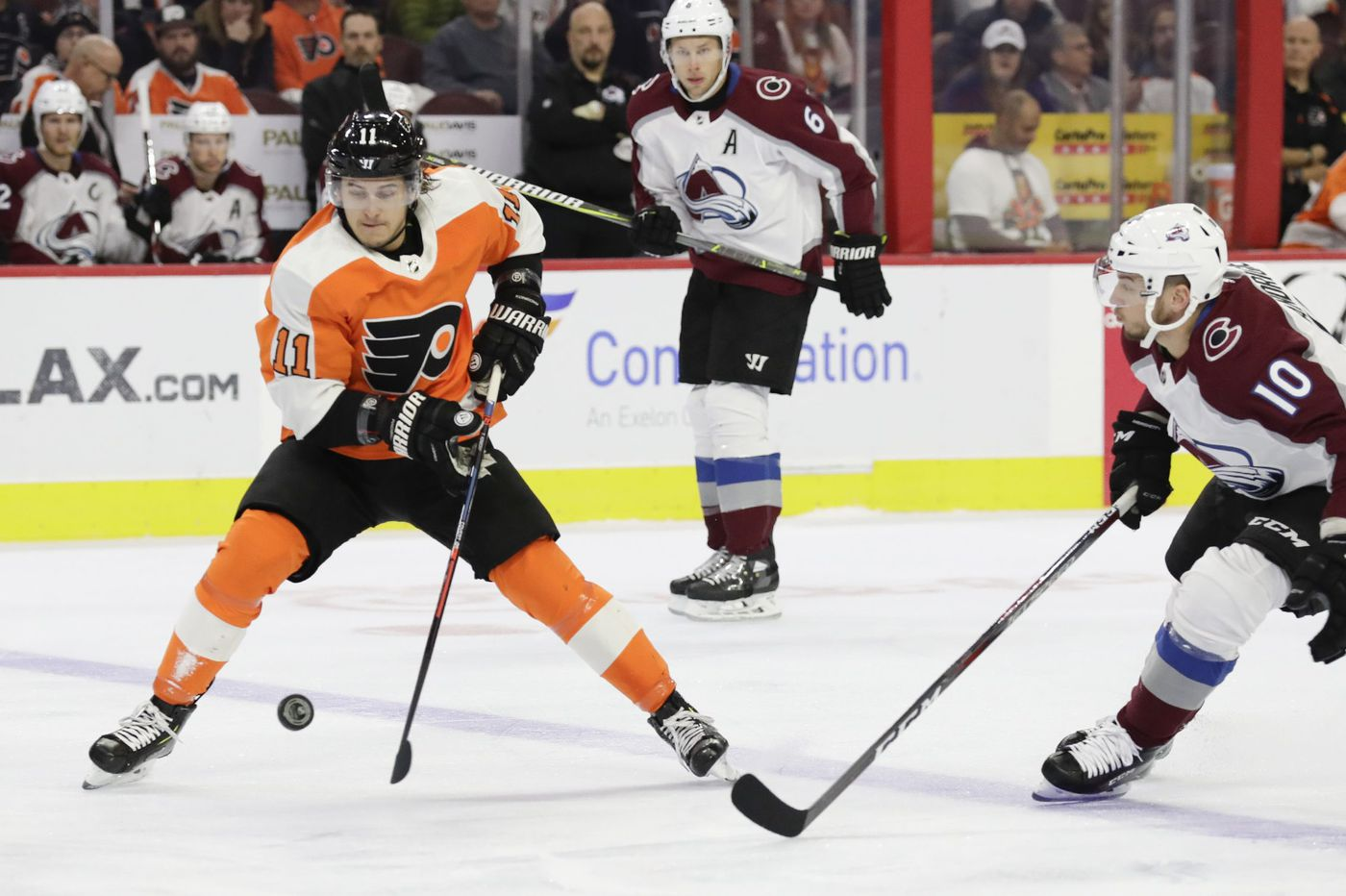 Travis Konecny back on Flyers' top line; Andrew MacDonald returns to lineup