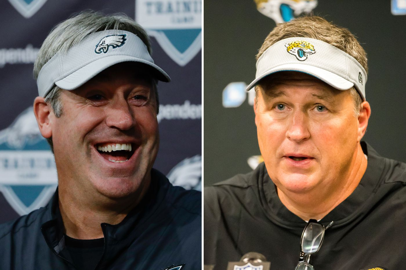 Jaguars coach Doug Marrone reacts to getting ripped by Doug Pederson