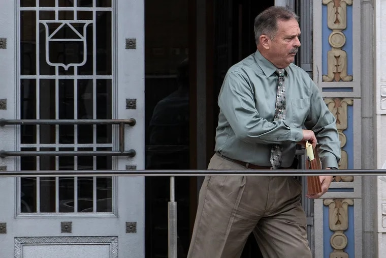 In a file photo from September 2019, former Bordentown, N.J., Police Chief Frank Nucera Jr. leaves U.S. District Court in Camden.