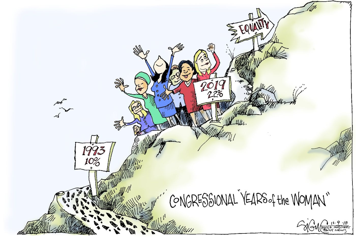 Uh oh. It's the Year of the Woman. Again. | Signe Wilkinson