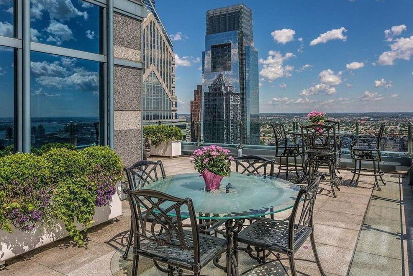The penthouse view of Philadelphia
