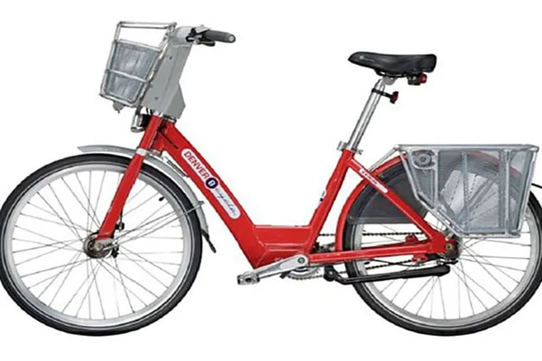 B-Cycle was chosen to provide bikes. It uses big, heavy, single-speed cruisers with oversize aluminum frames, hand brakes, and baskets.